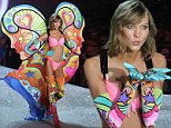 'I feel like Wonder Woman!' Karlie Kloss is a psychedelic rainbow butterfly in thigh-high boots at the Victoria's Secret Fashion Show