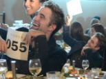 Robert Pattinson threw his head back with laughter at the Go Go charity gala
