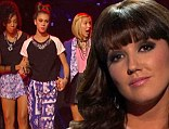 Not happy: Simon Cowell could not hide his disappointment on Thursday as his girl group Sweet Suspense was elminated from The X Factor USA and Rachel Potter also exited