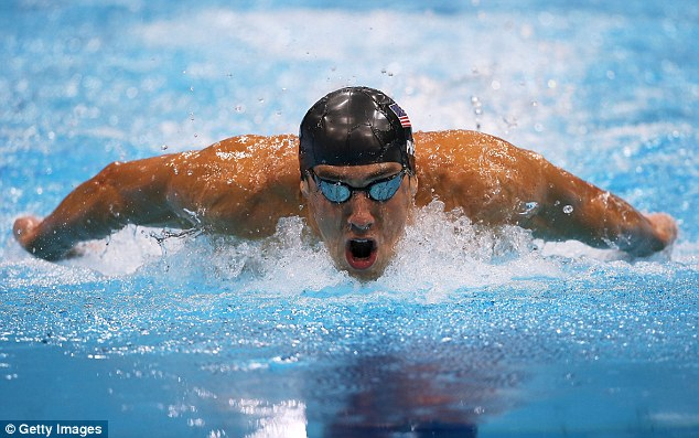 Powerhouse: Phelps won 18 gold medals in his peerless career in the pool