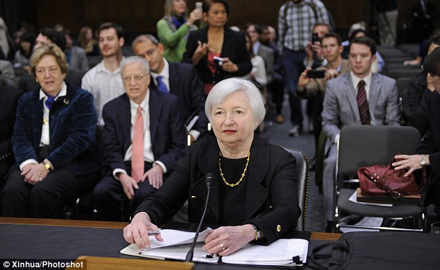 Staunch on QE: Yellen insisted that support of the economy by the Federal Reserve is ¿the surest path to returning to a more normal approach to monetary policy¿