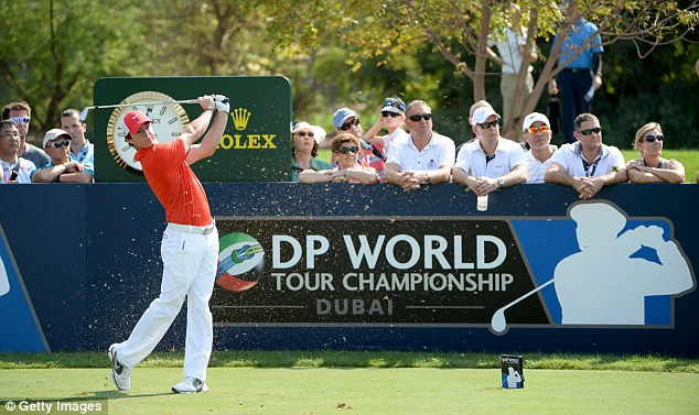 Tee shot: McIlroy drives during the second round of the 2013 DP World Tour Championship in Dubai
