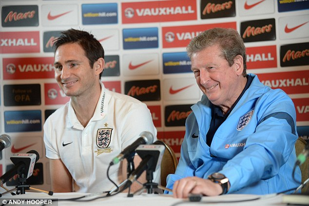 Withdrawals: Frank Lampard captains the England team against Chile after a number of injuries