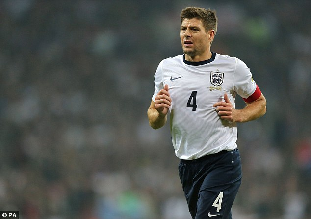 Missing: England captain Steven Gerrard will miss tonight's game, but is expected to return against Chile