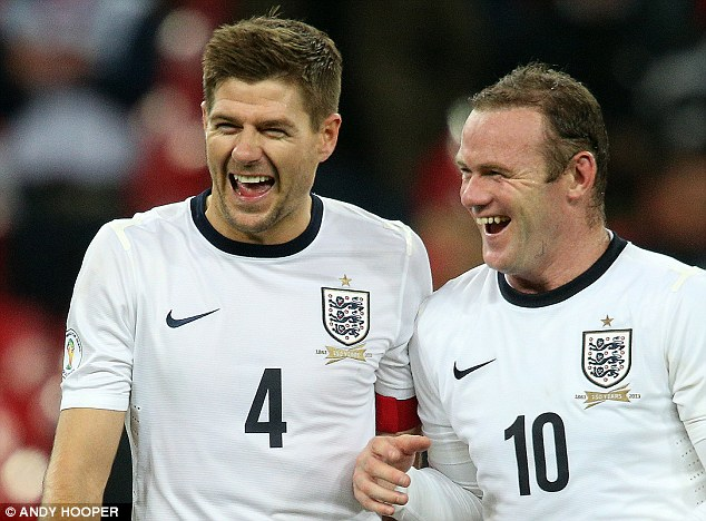 Liverpool link up: Steven Gerrard (left) and Wayne Rooney (right) will be the toast of their home city if England win the World Cup in Brazil