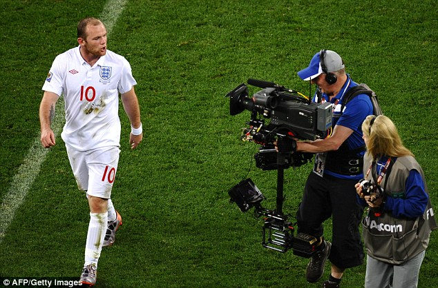 Having a moan: Rooney had a go at England fans during the last World Cup in South Africa in 2010