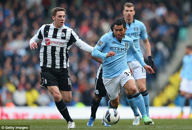 Out of favour: Gosling (left) made just 16 appearances for Newcastle