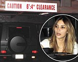 Kim Kardashian and friend Brittny Gastineau badly scrape roof of their Mercedes SUV after misjudging parking garage height