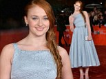 Game of Thrones' Sophie Turner wows in blue 1950s-style prom dress at premiere for Another Me