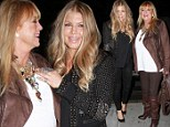 So that's where she gets her sense of style from! Fergie and her chic mother Theresa cuddle up as they celebrate husband Josh Duhamel's 41st birthday
