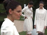 Katie Holmes enters a strange world of mind-control and 'cult' clone costumes... but it's just for a new movie