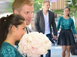 EXCLUSIVE: Here comes the bride! Catherine Giudici shops for wedding flowers with Sean Lowe... and a camera crew tags along too