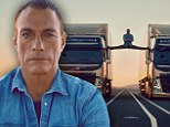 Jean-Claude Van Damme, 53, performs the splits between two moving trucks in breathtaking stunt