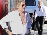 Do Ya Think I'm Sexy? Aging rocker Rod Stewart displays his chest in unbuttoned shirt