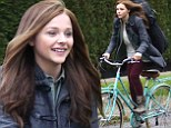 chloe moretz riding bike