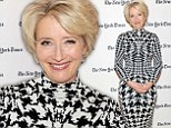 A new look for her! Emma Thompson causes a sensation in futuristic frock and sexy boots for special event