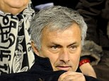 Scouting mission: Jose Mourinho was in Brussels to check out Moncao striker Radamel Falcao