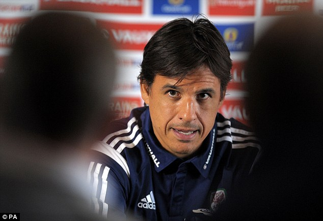 Cookie time: Chris Coleman has signed a contract extension to stay on as Wales manager