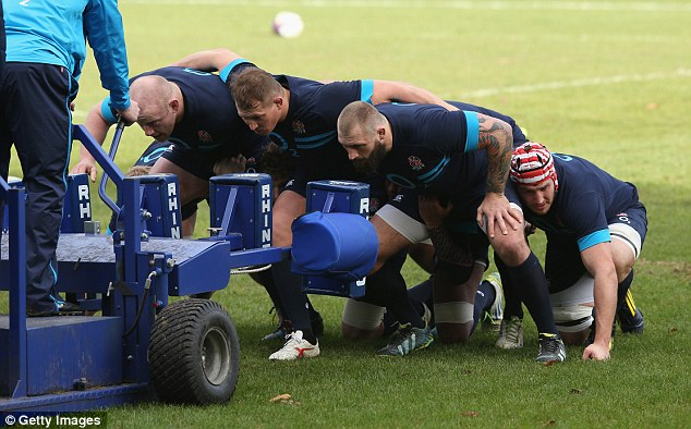 Scrum: The England front row Dan Cole, Dylan Hartley and Joe Marler have a huge test against New Zealand