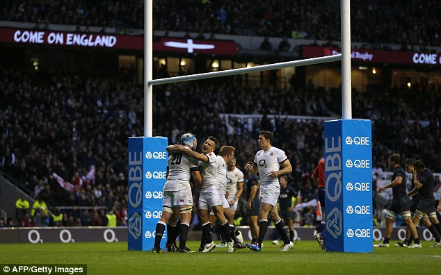 Sweep: England will look to complete a clean sweep at Twickenham after wins over Australia and Argentina