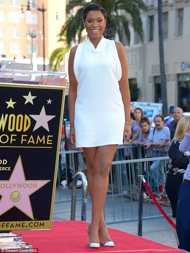 What an honour: Jennifer received a star on the Hollywood Walk of Fame on Wednesday and she was dressed for the occasion in a lovely white mini-dress and chic heels