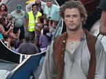 We'd hit the high seas for Chris Hemsworth! The Aussie hunk is greeted by young fans as he films whaling drama In The Heart Of The Sea on the Canary Islands
