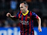 Staying? Andres Iniesta was rumoured to be unhappy at Barcelona after contract negotiations stalled