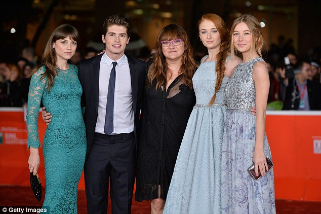 Lovely in lace: The pair with Leonor Watling, director Isabel Coixet and Charlotte Vega