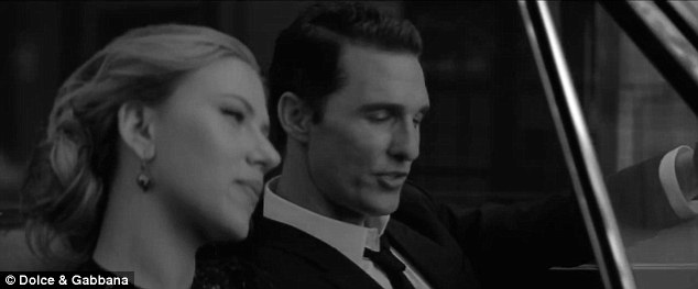 Dapper: The actor looked mighty fine alongside his stunning co-star in the pristine 60-second short entitled Street Of Dreams