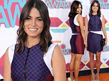 Simply heavenly! Nikki Reed shows off perfectly toned pins in asymmetrical dress at Nickelodeon's HALO awards