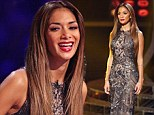Dazzling: It's her beady eye for fashion again! Nicole Scherzinger dazzles in elegant beaded dress getting her X Factor look right again