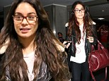 Spectacular spectacles! Vanessa Hudgens looks fetching in glasses and leather as she returns to Los Angeles after a quick visit to New York