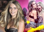 Cara Delevingne pats best bottom in the business backstage with Izabel Goulart at Victoria's Secret Fashion Show