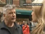 Anger: Alec Baldwin has been caught on camera laying into yet another reporter outside his home