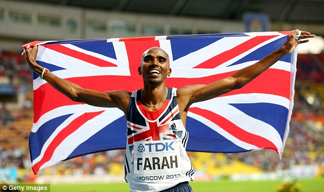 Winner: Mo Farah's Olympic and Championship success has helped to boost Team GB's reputation