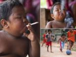 Toddler Aldi Rizal stunned the world when it was revealed he had a 40-a-day smoking habit at just two years old