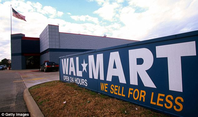 Happy shopper: Bryant entered a Walmart in the Dallas area, as seen in this file photo