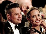 Together at last! Brad Pitt and Angelina Jolie are reunited after months apart as she receives Hollywood humanitarian award