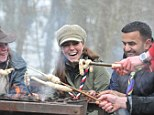 Joining in: The Duchess of Cambridge cooks with Scouts in the Lake District in March
