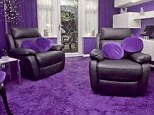 Every room inside the four bedroom house in Hillingdon, Middlesex, has been decorated in a shade of purple - including the bathroom and the kitchen
