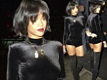Rihanna dines out in New York City