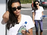 Forgetting something? A makeup-free Naya Rivera still sparkles despite leaving her engagement ring at home during a tough workout