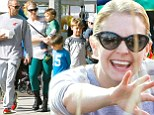 Back to normal! Melissa Joan Hart enjoys a little family time at a farmer's market following the release of her tell-all memoir