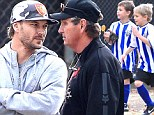 No bad blood here! The men in Britney's life reunite on the soccer field as father Kevin Federline and grandfather Jamie Spears share babysitting duties