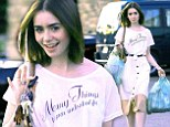 She's still the fairest of them all! Even when just picking up groceries, Lily Collins looks pretty as a princess in her snow white outfit