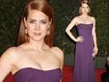 Amy Adams shows off her lean and toned arms in a strapless purple dress for the Governors Awards