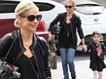 Bomber babes: Sarah Michelle Gellar and her daughter Charlotte coordinated in leather jackets as they headed to the tot's ballet class in Los Angeles, California on Saturday