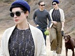 Needing some alone time? Anne Hathaway and husband Adam Shulman escape city life for a peaceful hike with their dog Esmeralda