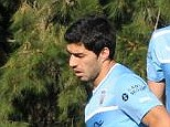 Rush: Luis Suarez will have to hastily make his way back from Uruguay to play the Merseyside derby on Saturday