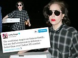Lady Gaga brings two pizza boxes home after tweeting about her father's 'delicious' Italian restaurant